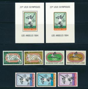 Haiti - Los Angeles Olympic Games MNH Sports Set (1984)