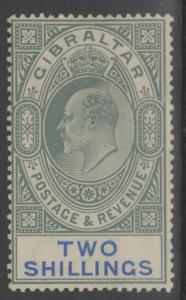 GIBRALTAR SG62 1905 2/= GREEN & BLUE MTD MINT