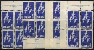 Canada - 1963 15c Canada Goose Plate Blocks mint #415