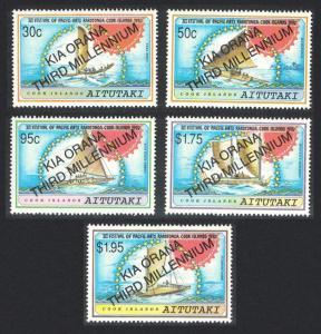 Aitutaki New Millennium 5v SG#702-706