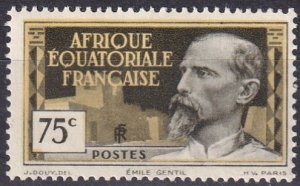 French Equatorial Africa #53 F-VF Unused  CV $5.50 (Z5253)