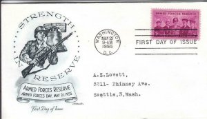 1955, Armed Forces Reserve, Artmaster, FDC (D14779)