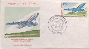 Comoro Islands Scott C66 Unaddressed.