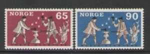 Norway Sc 513-4 1968 Craftsmen stamps mint NH