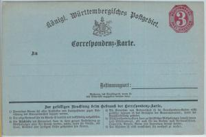 66751 - GERMANY Württemberg - Postal History - POSTAL STATIONERY CARD : P2