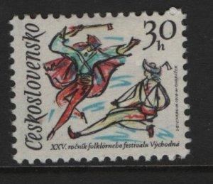 CZECHOSLOVAKIA, 2191, HINGED, 1978, FOLK DANCERS