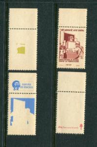 1949 France Christmas Seals Greens #32 PCP (Proof Set) MNH