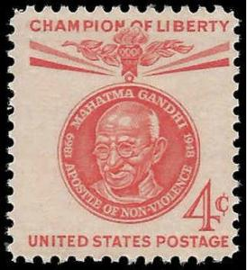 #1174 4c Champions of Liberty Mahatma Gandhi 1961 Mint NH