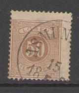Sweden Sc J21 1877 50 ore postage due  stamp used