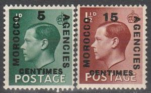 Great Britain Morocco #437-8  F-VF Unused (S4165)