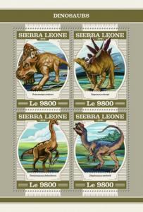 SIERRA LEONE - 2018 - Dinosaurs - Perf 4v Sheet - MNH
