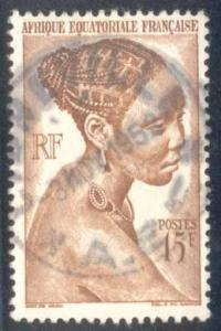 French Equatorial Africa ~ #182 ~ Bacongo Woman ~ Used