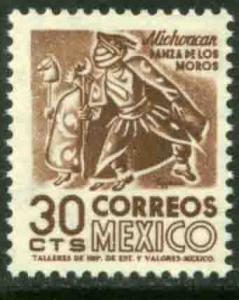 MEXICO 879, 30cents 1950 Definitive 2nd Printing wmk 300 MINT, NH. F-VF.