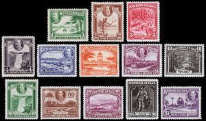 British Guiana Scott 210-222 (1934) Mint H F-VF Complete Set, CV $179.25 M