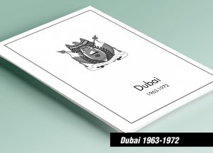 PRINTED DUBAI 1963-1972 STAMP ALBUM PAGES (80 pages)