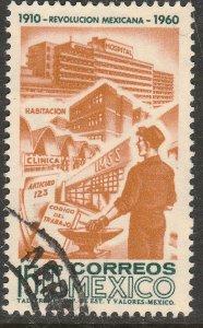 MEXICO 914, 15¢ 50th Anniv Mexican Revolution. USED. VF (513)