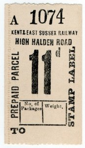 (I.B) Kent & East Sussex Railway : Prepaid Parcel 11d (High Halden Road)