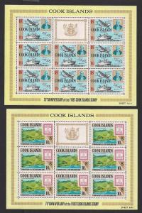 COOK ISLANDS SC# 195-8 VF MNH 1967 SHEET/8