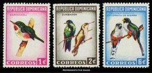 Dominican Republic Scott 602-604 Mint never hinged.