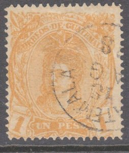 GUATEMALA  An old forgery of a classic stamp................................D822