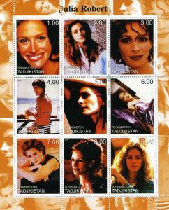 Tadjikistan 2000 Julia Roberts American Actress Sheet Perforated mnh.vf
