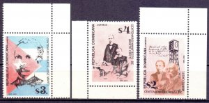 Dominican Republic. 1995. 1736-38. Writer and poet. MNH.