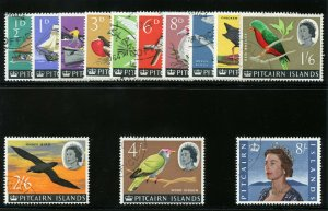 Pitcairn Islands 1964 QEII Definitives set very fine used. SG 36-48. Sc 39-51.