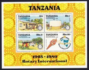 Tanzania Rotary International 75th Anniversary MS SG#MS282 SC#140a