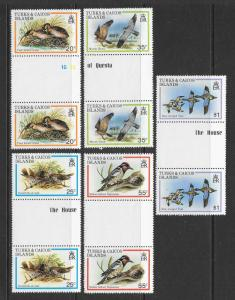 TURKS & CAICOS Sc#425-429 Complete Gutter Pair Set Mint Never Hinged