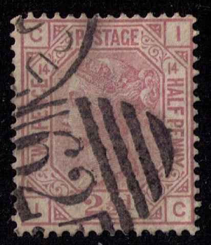 Great Britain Sc #67 (P14) Used (Sg 141) F-VF CV $55.00