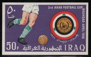 Iraq 1966 Arab Soccer Cup S/S Sc# 406 NH