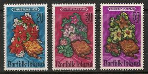 Norfolk Island #237-39 VF MNH - 1978 Flowers Xmas