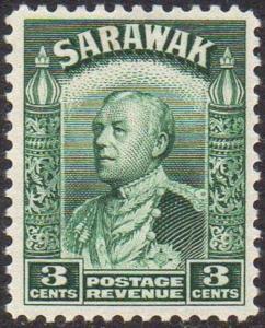 Sarawak 1941 3c green MNH