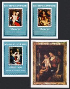 Sao Tome Rubens Paintings 400th Birth Anniversary 4 MSs Cat. Value ˆ50.-