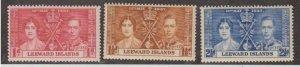 Leeward Islands Scott #100-101-102 Stamps - Mint NH Set