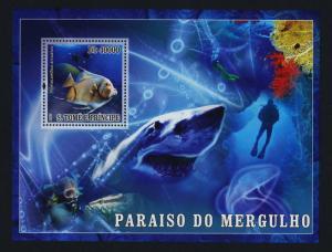 St Thomas & Principe 1752 MNH Fish, Shark