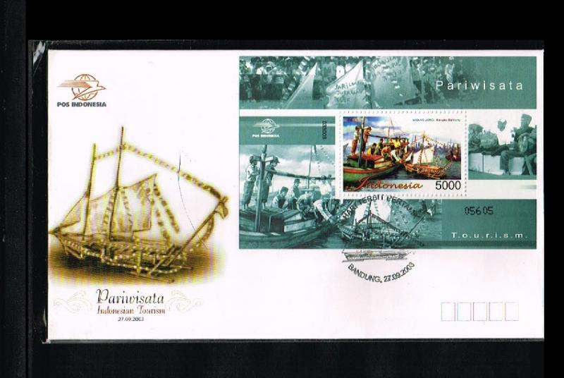 2003 - Indonesia FDC Block 217 - Vacation & Tourism - Indonesian Toerism [PB8...