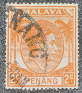 DYNAMITE Stamps: Malaya Penang Scott #4 – USED