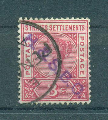 Straits Settlements sc# 84 (2) used cat value $.55