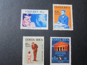 Costa Rica 1965 Sc 417-20 John F Kennedy set MNH