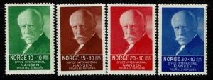 Norway SC# B5-B8, Mint Hinged, Hinge Remnant, ink dot on back of B5 & B8 - S1256