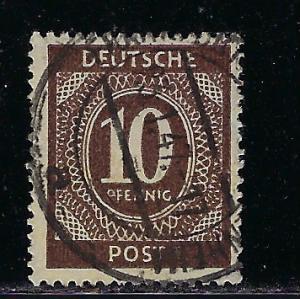 Germany AM Post Scott # 537, used
