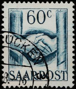 SARRE / SAARLAND - 1948 - Mi.240 60c with SAARBRÜCKEN cancel - Very Fine Used