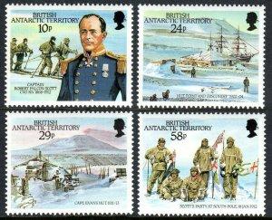 British Antarctic Territory 137-140,MNH.Capt.Robert Falcon Scott expedition,1987