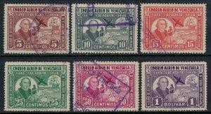Venezuela #C278-83  CV $5.20  Christopher Columbus