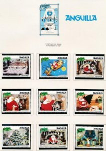 DISNEY ANGUILLA 453-461 MINT NH CHRISTMAS 1981