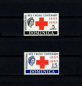 DOMINICA - 1963 - QE II - RED CROSS CENTENARY - MINT - MNH SET!