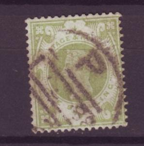 J14007 JLstamps 1887-92 great britain used #122 queen $72.50 scv