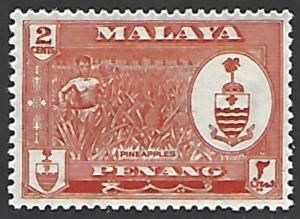 Malaya Penang #57 Mint Hinged Single Stamp