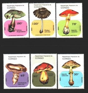 Congo. 1991. 1205-11 from the series. Mushrooms. MNH.